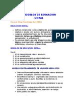 MODELOS DE EDUCACIÓN MORAL