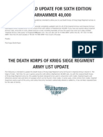 Death Korps Siege List 6th