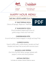 Bart Happy Hour Menu 061511
