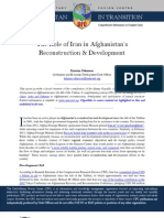 CFC Thematic Report - The Role of Iran in Afghanistan's Reconstruction and Development, 23 August 13