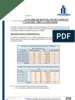 Informe y Analisis de Rotura de Fusibles Bulones