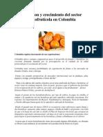 Evolucion y crecimiento del sector hortofrutícola en Colombia