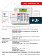 First Alert Keypad Quick Reference Guide