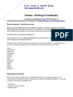 IELTS Essays - Planning vocabulary