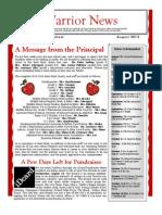 Newsletter (August 2013)