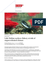 Lake Babine Sockeye Fishery at Risk of Unprecedented Closure
