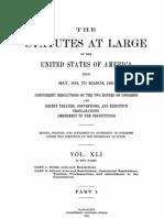 41 Stats 653 Independent Treasury