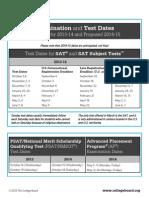 Anticipated Sat Administration Dates 2013 2015