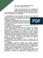 Dimensiones Clima Organizacional Personal Administrativo