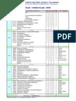 UNFV FCFC Plan Curricular Vigente