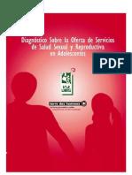 Diagnóstico Sobre la Oferta de Servicios de Salud Sexual y Reproductiva en Adolescentes