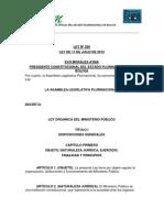 Ley 260 Ministerio Publico