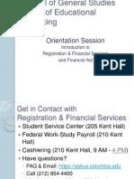 Focus on the Financials | Fall 2013 Undergraduate Orientation