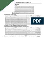 Chapitre 5 - L'Evaluation de l'Entreprise - La société Maestral - Corrigé