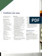 Canelones Con Setas
