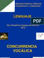 CONCURRENCIA VOCÁLICA 2013   ----UNFV