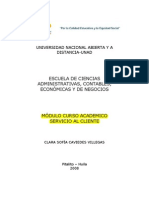 MÓDULO CURSO ACADEMICO SERVICIO AL CLIENTE