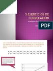 Ejercicios Correlación