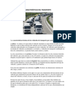 CARACTERÍSTICAS DEL TRANSPORTE