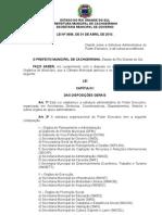 Lei n°3656 - Estrutura Administrativa