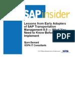 SCM2012 Bernard Lessonsfromearly.ppt - SAP Insider SCM Ppt 12