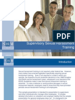 2008 Supervisory Sexual Harassment Training