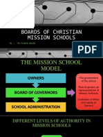 Boards of Christian Mission Schools