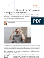 Slavoj Žižek_ 'Humanity is OK, but 99% of people are boring idiots' _ Books _ The Guardian