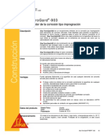 SIKA FERROGARD 903 Aditivo Inhibidor Impregnacion