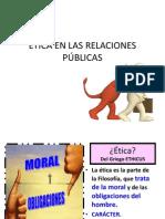 ETICA EN LAS RELACIONES PÚBLICAS