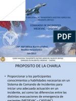 Comando de Incidentes, Medevac, Casevac Curso Nacional Transporte Asistido Aereo Del Paciente Critico.