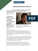 Murakami Encabeza Apuestas Para Nobel de Literatura - El Universal - Cultura