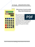 FINANCIAL CALCULATOR - Practice Exercises - Appraisal Institute