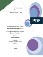 Informe Gestion Diseño Instruccional