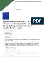 A grande rede do mundo em ASD_ análise conectividade Dinâmicos reflete um déficit nas ligações de longo alcance e um excesso de conexões de curto alcance