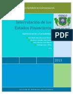 Interrelacion de Los Estados Financieros