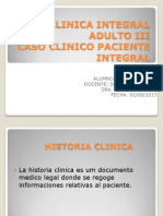 Clinica Integral Adulto III