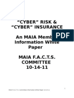 Cyber Risk and Cyber Insurance