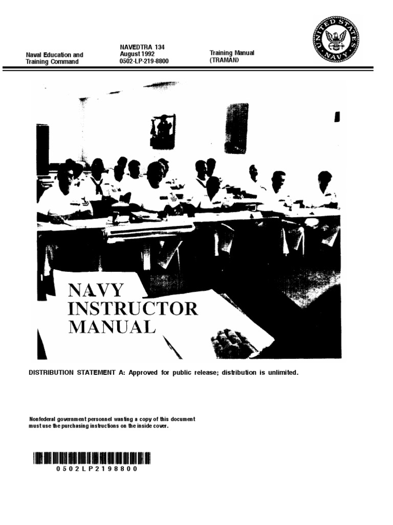 7822190 US Navy Course NAVEDTRA 134 Navy Instructor Manual