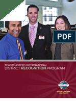 Programa de Reconocimiento Del Distrito