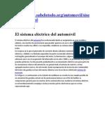 El sistema eléctrico del automóvil