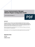 Avaya Communication Manager Network Region Configuration Guide