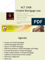 Report on Chattel Mortgage Law_Final