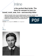 How to Become the Perfect Nazi Bride_ the Sinister Regulations for Women to Learn to Breed, Cook, Sew, Iron - And Worship Hitler _ Mail Online