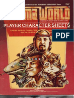 Gamma World Character Sheets 1984