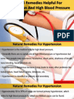 Natural Remedies Helpful For Hypertension And High Blood Pressure