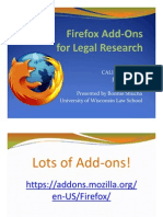 Firefox Add Ons for Legal Research