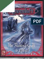TSR 9355 RR5 Van Richten's Guide to Ghosts