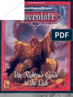 TSR 9412 RR6 Van Richten's Guide to the Lich