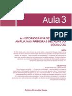 Historia e Historiografia Sergipana Aula 3